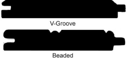 v-groove and beaded