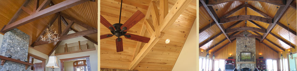 Prefinished Wood Ceilings, Paneling and Beams.